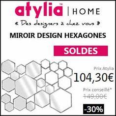 #missbonreduction; Soldes: 30% de réduction sur le MIROIR DESIGN HEXAGONES chez Atylia. http://www.miss-bon-reduction.fr//details-bon-reduction-Atylia-i4-c1840683.html