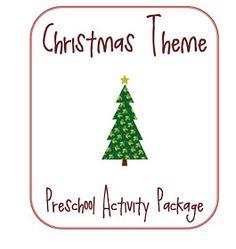 Little Piles Everywhere: Christmas Themed Preschool Activity Package