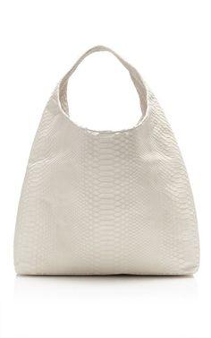 Bone Matte Python Hobo Bag by Hunting Season for Preorder on Moda Operandi
