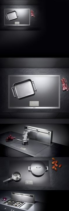 Induction cook technology with design by Gaggenau, Germany