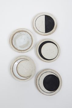 Moon Phases Ceramic Dishes by MQuan