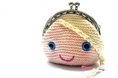 Princess coin purse pdf crochet pattern INSTANT DOWNLOAD
