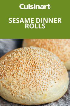 Homemade light and fluffy sesame dinner rolls #dinner