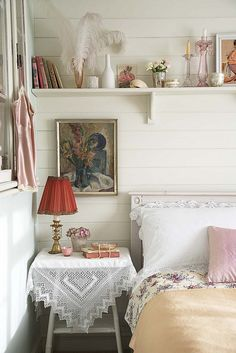 Vintage bedroom, styling Polly Rawlings by Sussie Bell,