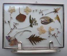 flower frame zilver
