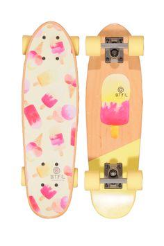 BTFL Longboards Coco - Süßer Mini Cruiser für Mädels gesehen bei www.Endless-Skate.de