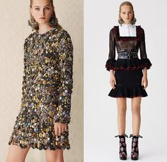 Alexander McQueen 2017 Resort Cruise Pre-Spring Womens Lookbook Presentation - Hand-Painted Hand Loom Engineered Floral Flowers Tablecloth Exploded Patchwork Leather Carnations Yellow Roses Peonies Poppies Broderie Anglaise Sequins Beads Caravan Embroidery Tweed Boots Skirt Frock Miniskirt Belted Waist Bedazzled Metallic Studs Sequins Knitwear Outerwear Jacket Coatdress Cloak Hanging Sleeve Dress Sheer Chiffon Lace Motorcycle Biker Jacket Wide Belt Tiered Handbag