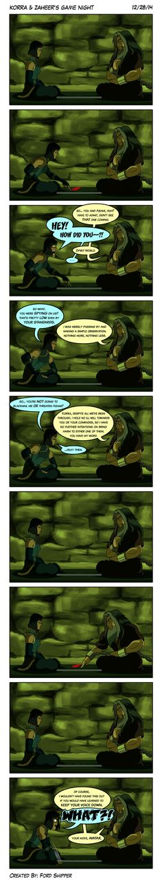 Korra and Zaheer's Game Night by Mystic-Forces.deviantart.com on @DeviantArt