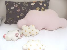 These pillows would be really cute in a baby's nursery.