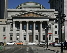Bank of Montreal, 119 Saint Jacques Street Montreal, built in 1847