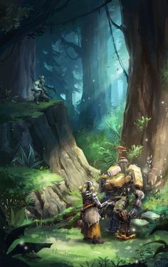 Bastion in a forest - Overwatch Overwatch Comic, Overwatch Memes, Overwatch Fan Art, Video Game Art, Video Games, League Of Legends, Overwatch Zenyatta, Overwatch Wallpapers, Heroes Of The Storm