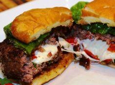 Caprese Burger. Looks soooooo good.