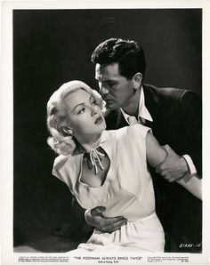 Lana Turner & John Garfield, The Postman Always Rings Twice, 1946 (costume by Irene) Hooray For Hollywood, Hollywood Icons, Golden Age Of Hollywood, Vintage Hollywood, Hollywood Actresses, Classic Hollywood, Actors & Actresses, Hollywood Glamour, Hollywood Men
