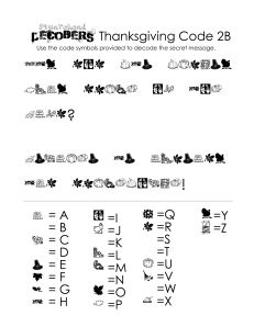 FREE Thanksgiving Decoder Worksheet~ Fun picture-to-letter puzzle to decode.  Has easy, medium, and difficult versions!