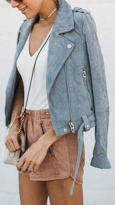 Chic Outfits, Spring Outfits, Girl Outfits, Fashion Outfits, Spring Ootd, Outfit Summer, Diva Fashion, Blue Fashion, Sky Blue Blazer