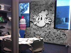 """Custom """"graffiti"""" art for walls of private offices"""