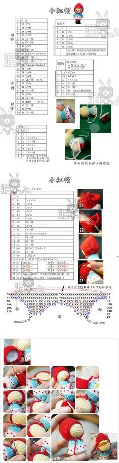 Little Red Riding Hood - free amigurumi crochet chart