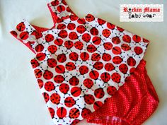 Ladybugs Baby Pinafore Dress and Diaper Cover by RockinMamaBG, $30.00