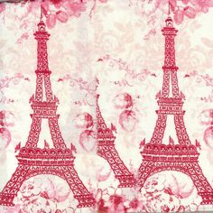 valentine red  Eiffel tower Paris France  hand by oohLaLaCrafts, $5.00