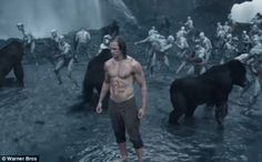 Hero: Alexander Skarsgård plays the jungle-raised, titular hero in the newly-released trailer for David Yates' coming film, Legend Of Tarzan