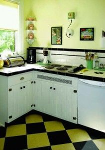 37 Best Flooring Ideas for Vintage Kitchen images