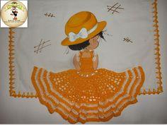 pintura com aplique de croche - Pesquisa Google