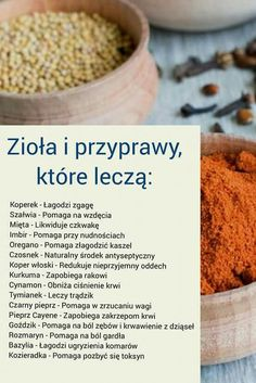 Ziola ktore lecza Healthy Tips, Healthy Eating, Healthy Recipes, Helathy Food, Food Hacks, Natural Health, Healthy Lifestyle, Good Food, Food And Drink