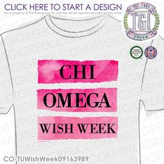 TGI Greek- Chi Omega, Epsilon Gamma- Greek Apparel #ChiOmega #ChiO #WishWeek…