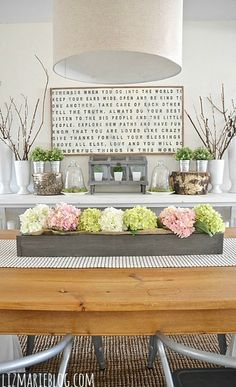 Lovely Spring Dining Room