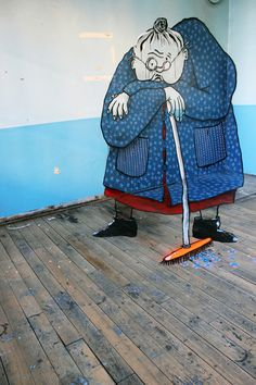 Optical Illusions Painted In Abandoned Buildings - DesignTAXI.com