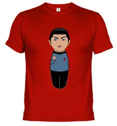 Camiseta Kokeshi Spock de Star Trek