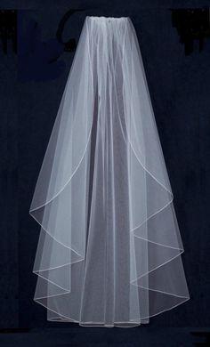Angel Cut Extra Full Knee Length Wedding Veil - Many Colors!--Affordable Elegance Bridal -