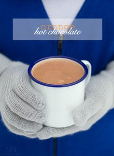 This orange hot chocolate combines classic winter flavors and is easily made on the stove top or in your Vitamix. Plus it's ready in under 10 minutes.