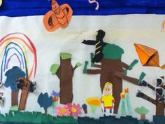 Closer Look at our Signs of Spring Class Mural