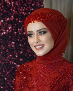Muslim Wedding Dresses, Hijab Dress, Turban, Kaftan, Marie, Evening Dresses, Eye, Makeup, Beautiful