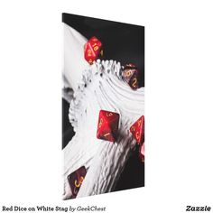 Red Dice on White Stag Canvas Print