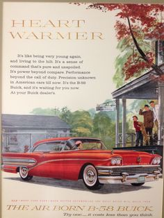 1958 Air Born B-58 Buick vintage ad