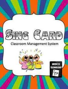 SING Cards- Behavior management system for any classroom. each letter stands for something. Have students collect cards and have a drawing at the end of the week or month for a prize.