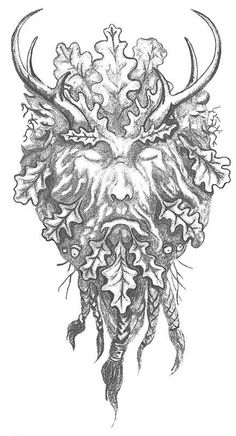Gallery For: The Green Man Tattoo Heidnisches Tattoo, Pagan Tattoo, God Tattoos, Eagle Tattoos, Celtic Tattoos, Tattoos For Guys, Stag Tattoo, Norse Tattoo, Nature Tattoos