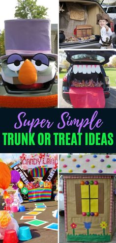 Easy trunk-or-treat ideas that will help you have the best dressed car in the whole parking lot! These interactive trunk or treat ideas are safe ways to celebrate Halloween. Save these Super Simple Trunk-or-treat ideas for later! Halloween Pictures, Easy Halloween, Halloween Treats, Halloween Party, Halloween Carnival, Outdoor Halloween, Halloween Stuff, Halloween Costumes, Halloween Traditions