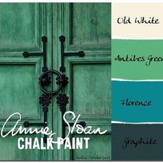 Annie Sloan Chalk Paint is easily mixed to form custom colors. Antibes Green added to Florence results in a deep emerald. Tints can then be made by adding different amounts of Old White to the custom color.