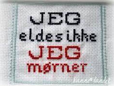 Bilderesultat for korssting humor Diy And Crafts, Arts And Crafts, Modern Cross Stitch, Journal, Holidays And Events, Homemade Gifts, Handicraft, Funny Quotes, Embroidery