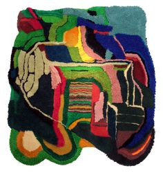 Rug by graffiti artist Jonathan Josefsson Art Fibres Textiles, Textile Fiber Art, Weaving Textiles, Fibre Art, Sculpture Textile, Soft Sculpture, Tapis Design, Textile Design, Hand Hooked Rugs
