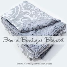 DIY Baby Blankets : DIY blanket from minkee minky and cotton fabric