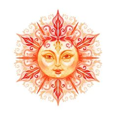 The radiant sun symbolizes foods for the crown chakra