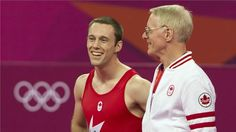 Canada's Men's Trampoline competitor Jason Burnett with coach Dave Ross Dave Ross, Latest Sports News, Nhl, The Man, Gymnastics, Olympics, Athlete, Canada, Celebrities