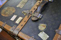 Vintage Louis Vuitton travel trunk.