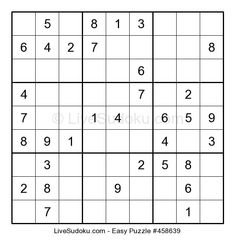Hard Sudoku puzzle number This Sudoku is a bit more difficult than what people are used to solve. Use our tutorials to learn advanced Sudoku techniques to solve this one. Hard Puzzles, Sudoku Puzzles, Number Puzzles, Logic Puzzles, Fun Games For Kids, Connect The Dots, Brain Teasers, Math Resources, Math Activities