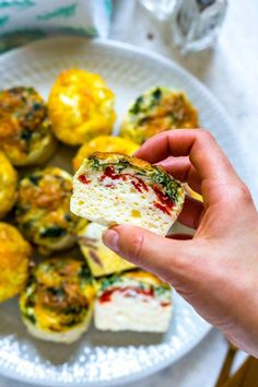 These Copycat Oven-Baked Starbucks Egg Bites are just like the sous vide version they serve at everyone's favourite coffee house - you don't need to do any fancy techniques either, just your oven and a silicone egg tray! Oven Recipes, Egg Recipes, Healthy Recipes, Healthy Foods, Healthy Eating, Quick Recipes, Light Recipes, Fall Recipes, Yummy Recipes