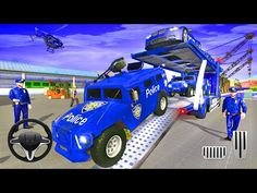 Police Car Transport Truck - Grand Police Cargo Transport Truck - Car Parking Sim - Android Gameplay - YouTube